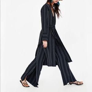 Zara long striped cardigan/jacket